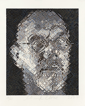 """Self Portrait"" by Chuck Close"