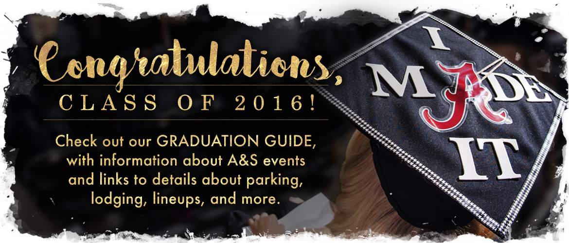 a postcard announcing the graduation 2016 details with text that reads,