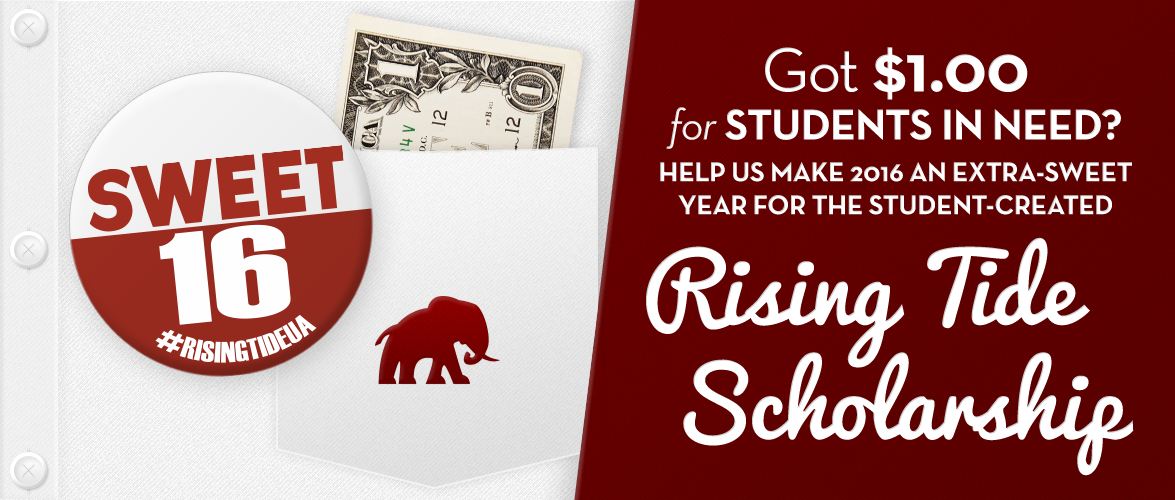 a postcard advertising the Rising Tide Scholarship; text that reads,