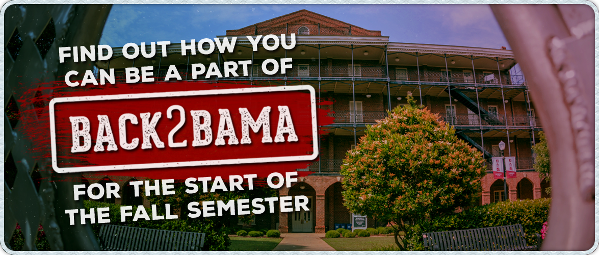 #back2bama university of alabama first day of classes