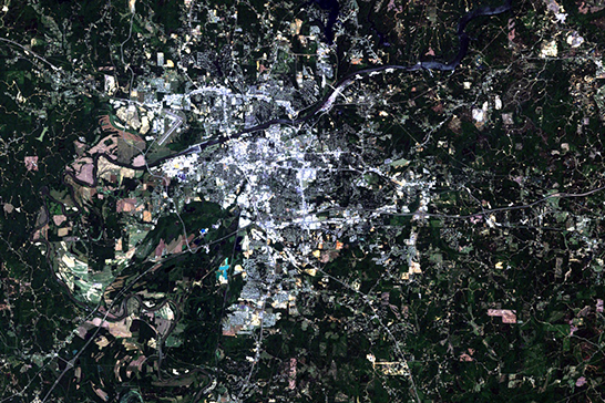 Satellite image of Tuscaloosa in 2008