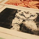 Art by Lonica Huff in ART 325 Monotype class